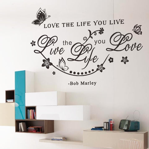 Bob Marley's Quote Wall Sticker - Decor Home Ideas - 1