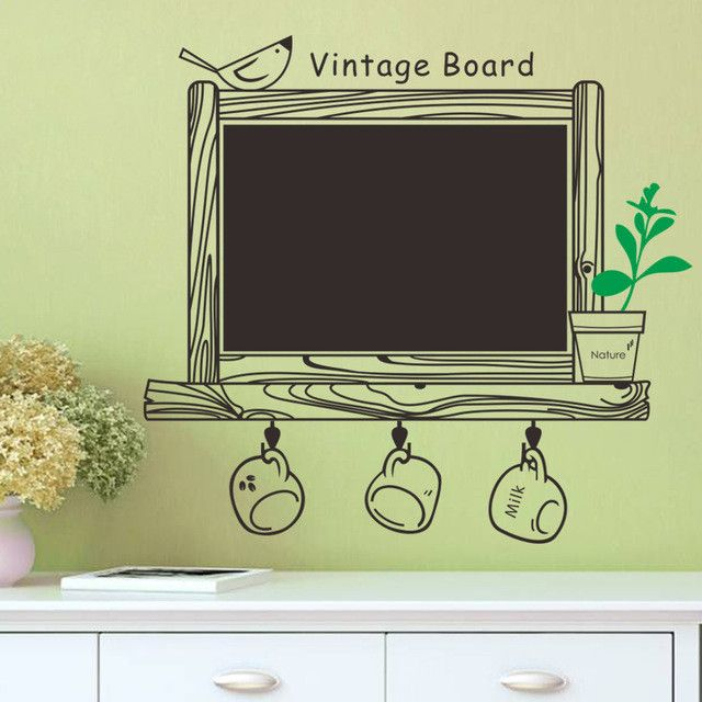 Vintage Kitchen Chalkboard Removable Waterproof Decor Blackboard ...