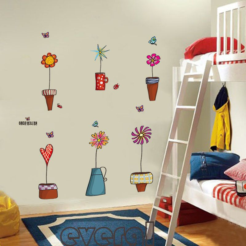 ... Cute Cartoon Flowers Butterflies Wall U0026 Window Stickers   Decor Home  Ideas   4 ... Part 92
