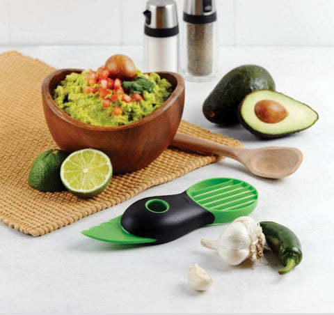3-in-1 Avocado Mango Papya Durable Blade Plastic Slicer & Corer - Decor Home Ideas - 1