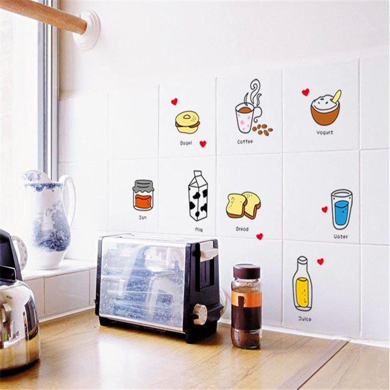 ... Cartoon Food Kitchen Removable Wall Stickers   Decor Home Ideas   9