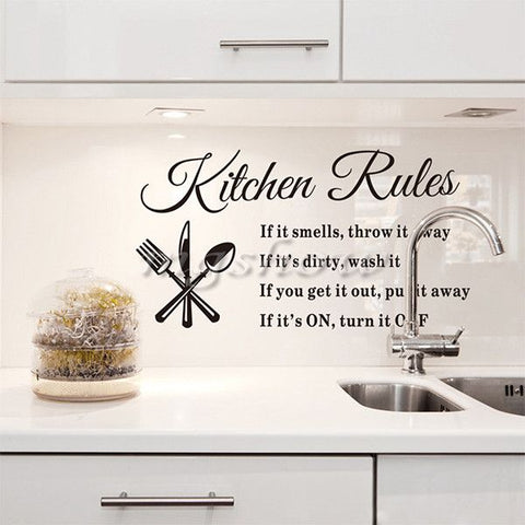 Kitchen Rules Removable Wall Sticker - Decor Home Ideas - 1