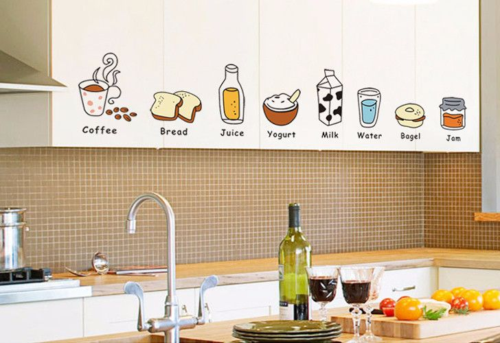 Cartoon Food Kitchen Removable Wall Stickers – Decor Home Ideas