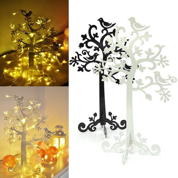 Decorative metal jewelry tree stand holder decor home ideas for Deco metal mural