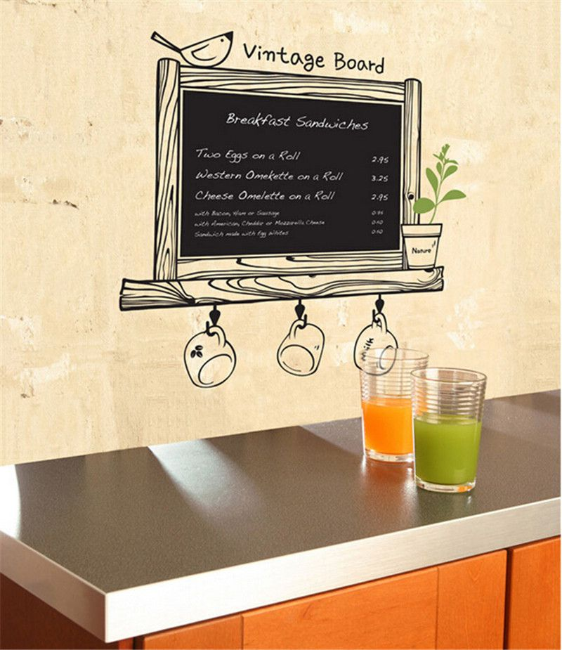 Vintage Kitchen Chalkboard Removable Waterproof Decor Blackboard Decor Home Ideas 4