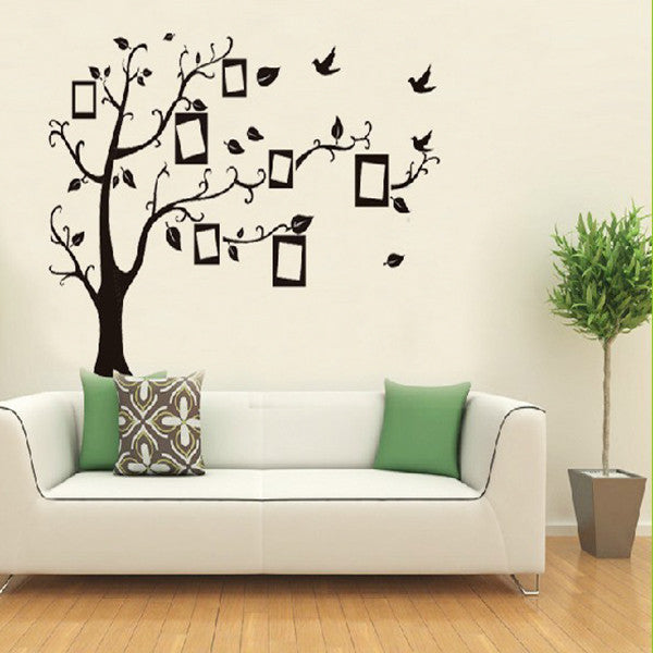 ... Black Tree Removable Wall Sticker   Decor Home Ideas   7 ...