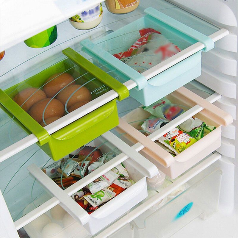 Beau Slide Kitchen Fridge Freezer Space Saver Organizer Storage Rack § Shelf  Holder   Decor Home Ideas ...
