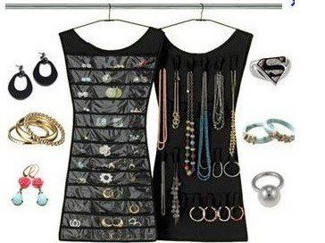 Little Black Dress Hanging Jewelry Organizer Decor Home Ideas
