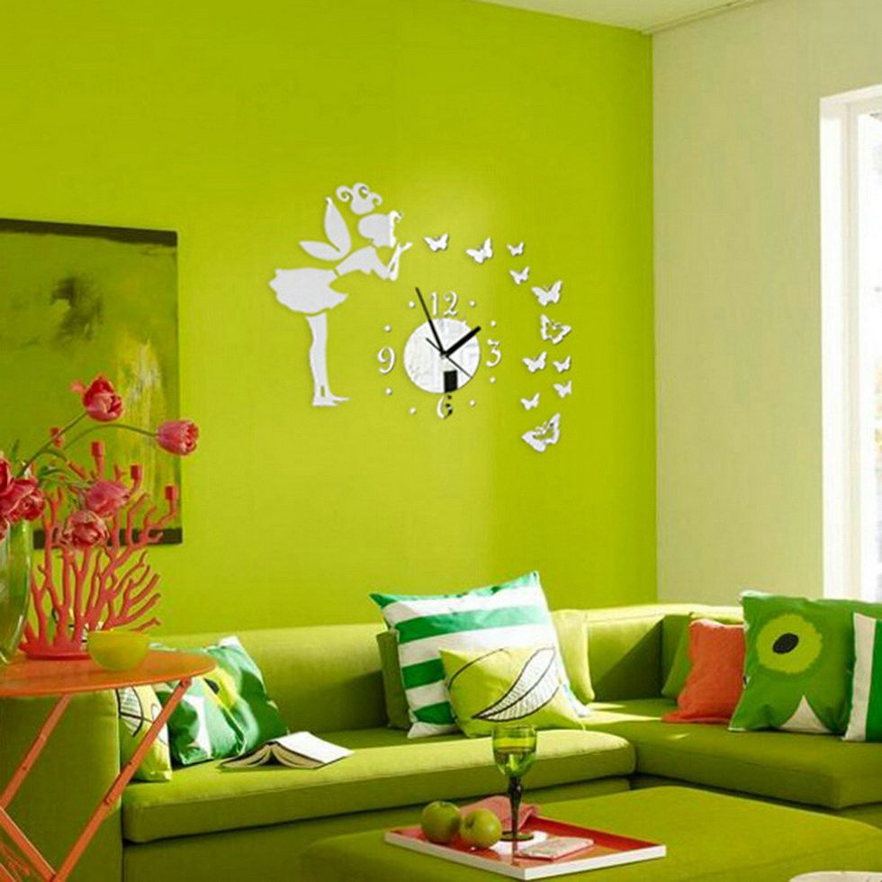 Butterfly Mirror Wall Clock – Decor Home Ideas