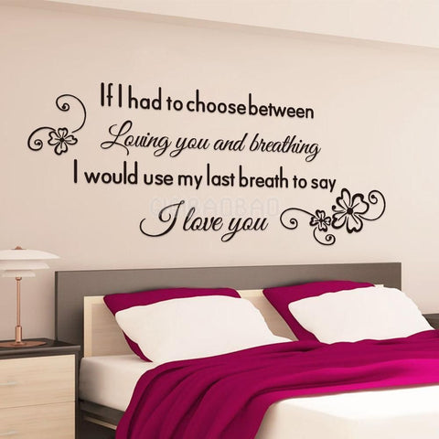 """I love you"" Removable  Wall Sticker - Decor Home Ideas - 1"