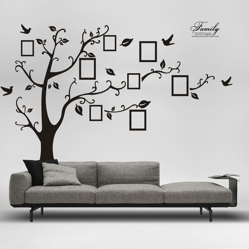 ... Black Tree Photo Frame Removable Wall Sticker   Decor Home Ideas   4 ...