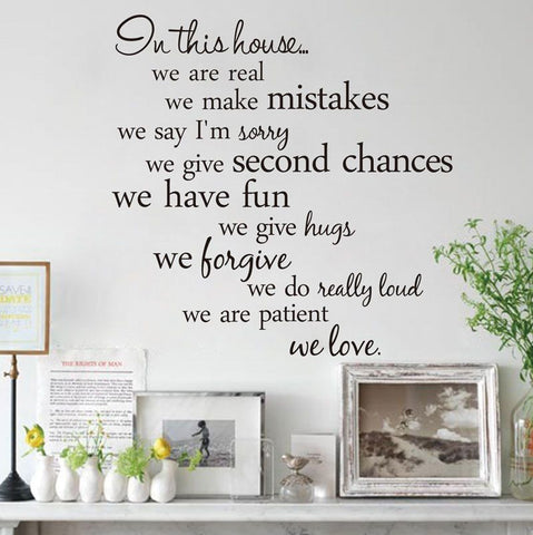 In This House We Love Vinyl Wall Sticker - Decor Home Ideas - 1