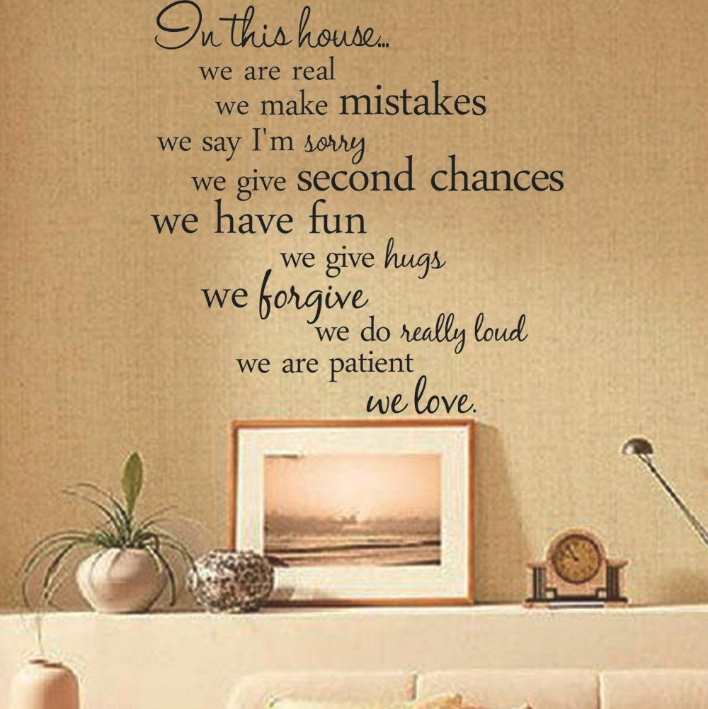 ... In This House We Love Vinyl Wall Sticker   Decor Home Ideas   2 ... Part 40