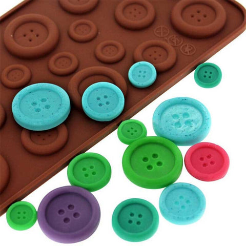 Button Shape Silicone Mold Jelly\Soap\Chocolate mould