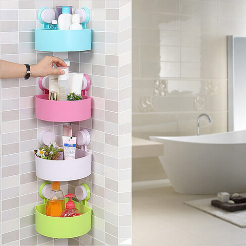 2016 New Sucker Corner Shelf Bathroom Kitchen Storage Rack vacuum chuck FULI