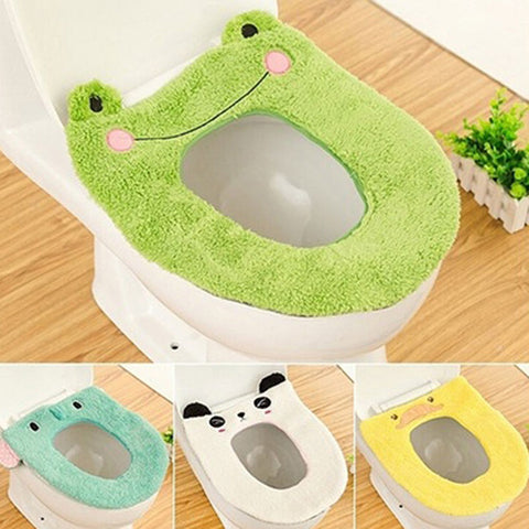Cartoon  Soft Warm Carpet Cover Toilet Seat