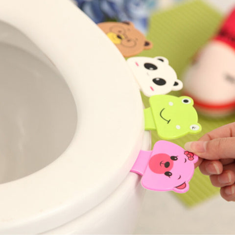 Cute Cartoon Toilet Lid Cover Sticker Accessories