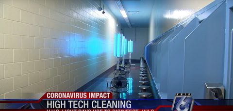 Jail using UVC light rays to disinfect
