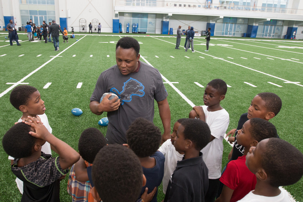 Detroit PAL Clinic with 1991 Lions Team