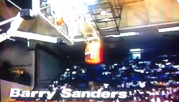 Barry Sanders Dunking At Slam Fest 1991