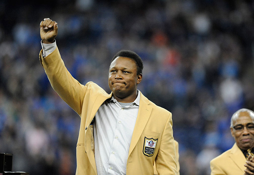 Barry Sanders appears at Pro Football Hall of Fame Fan fest
