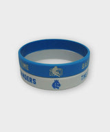 Barry Sanders Wristbands Blue and White
