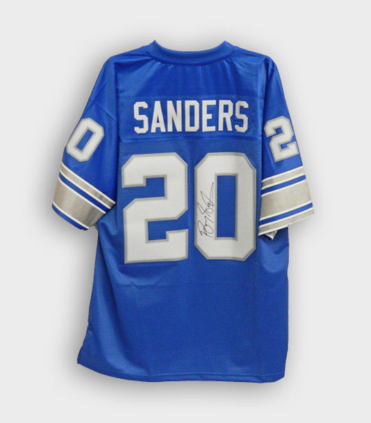 Barry Sanders Signed Vitage JErsey