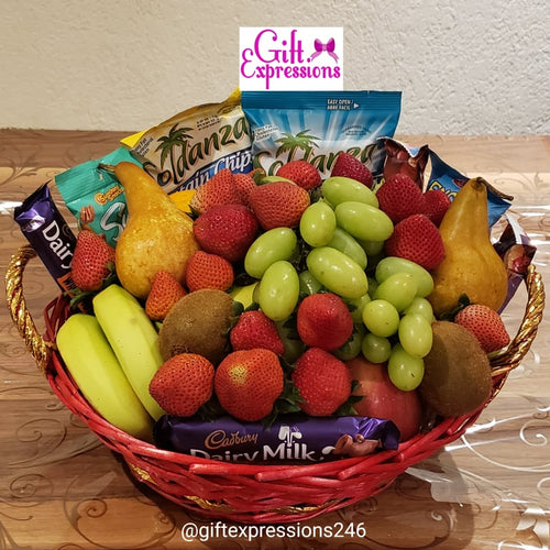 Bountiful Fruit & Snack Basket - Gift Expressions