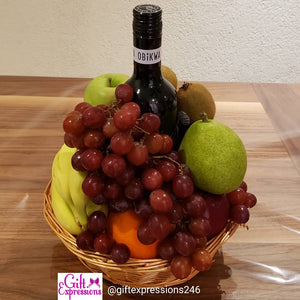 Signature Fruit & Wine Basket