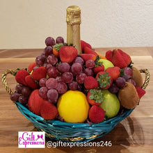 Load image into Gallery viewer, Charming Fruit & Non-Alcoholic Wine Basket
