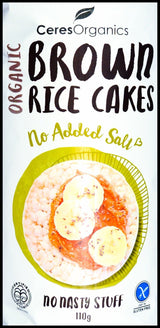 Ceres Organics Brown Rice Cakes - Organic Store NZ