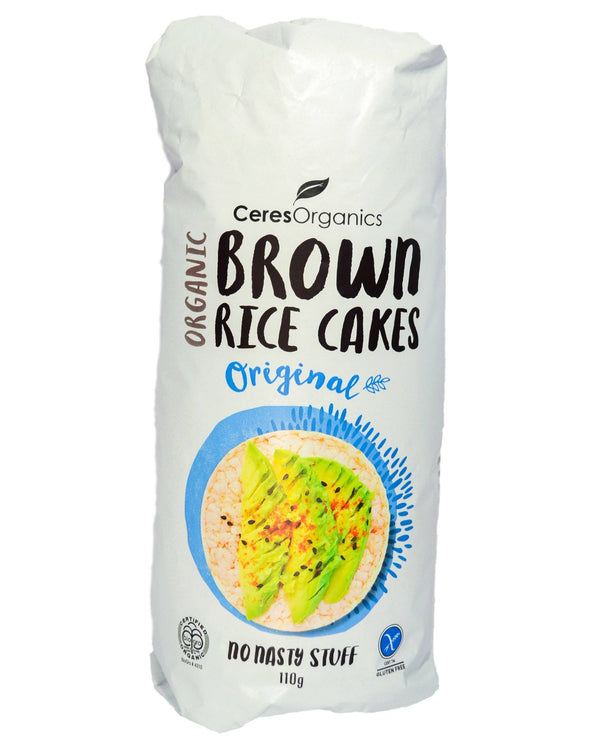 Ceres Organics Brown Rice Cakes - Original (110g) Original (110g) - Organic Store NZ
