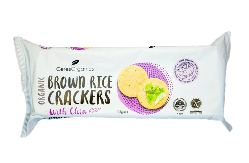 Ceres Organics Brown Rice Crackers - Organic Store NZ