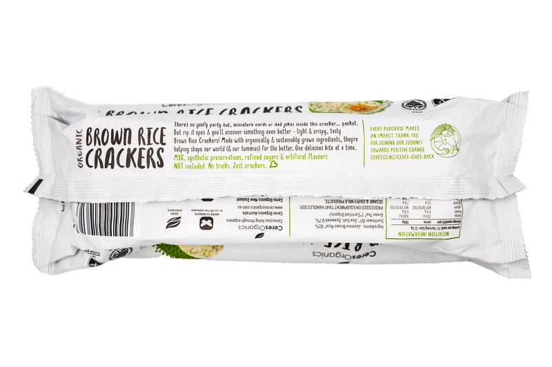 Ceres Organics Brown Rice Crackers - Seaweed (115g) - Organic Store NZ