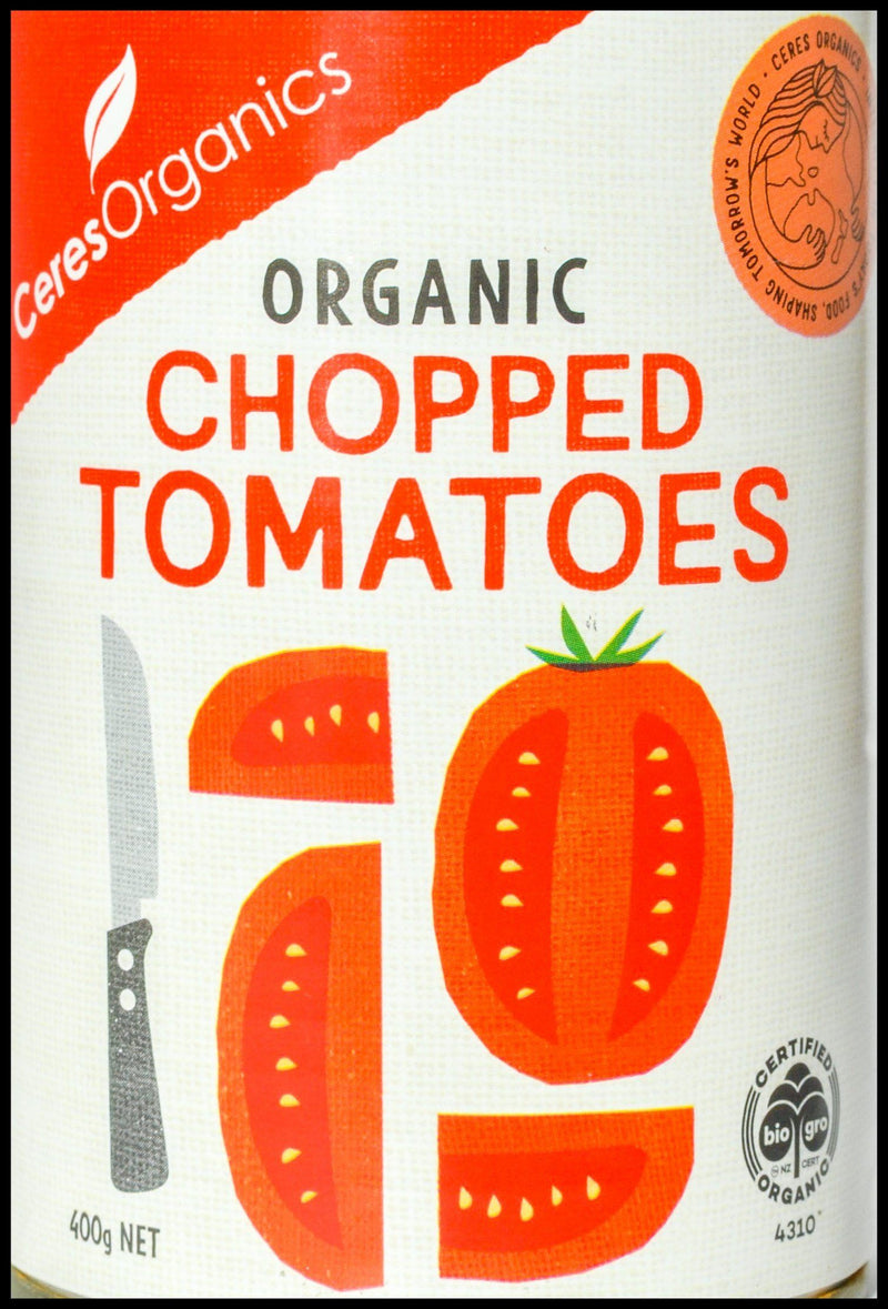 Ceres Organics Chopped Tomatoes (400g) - Organic Store NZ