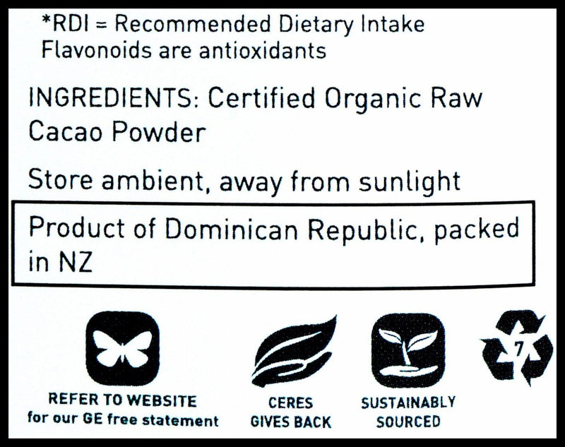 Ceres Organics Raw Cacao Powder (250g) - Organic Store NZ