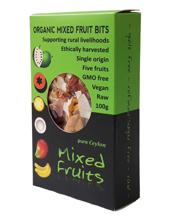 D - Kokonati Organic Dried Fruits - Mixed Fruits (100g) - Organic Store NZ