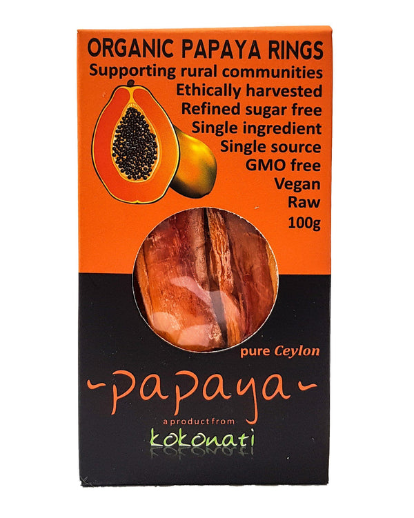 D - Kokonati Organic Dried Fruits - Papaya (100g) - Organic Store NZ
