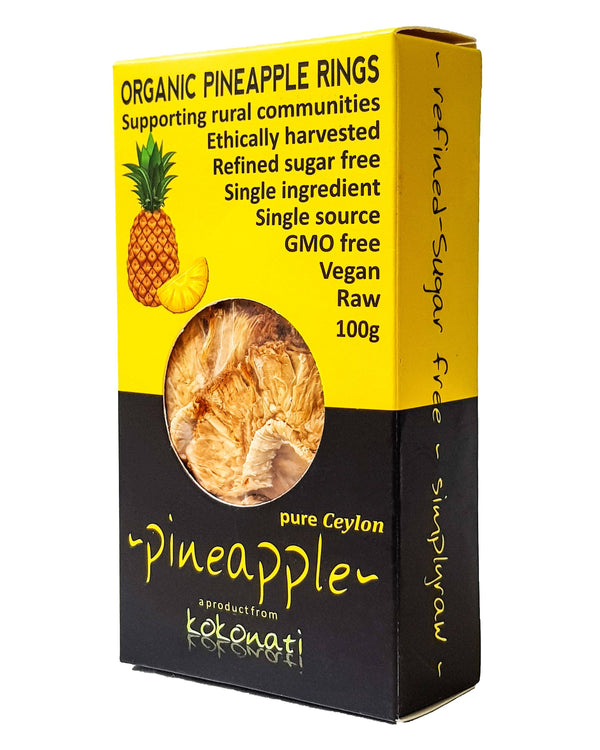 D - Kokonati Organic Dried Fruits - Pineapple (100g) - Organic Store NZ