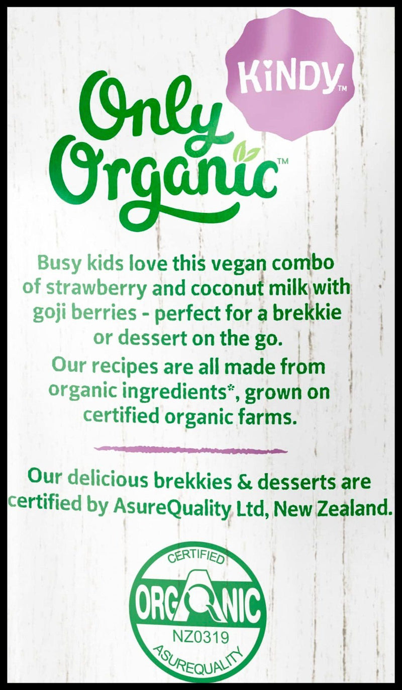 D - Only Organic Kindy 1-5 years Coconut Strawberry & Goji (100g) - Organic Store NZ
