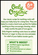Only Organic 8+ months Teething Rusks (100g) - 6 Twin packs - Organic Store NZ