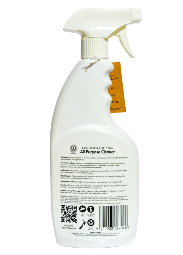 Orchard Organic All Purpose Cleaner - Patchouli & Sweet Orange (500 ml) - Organic Store NZ