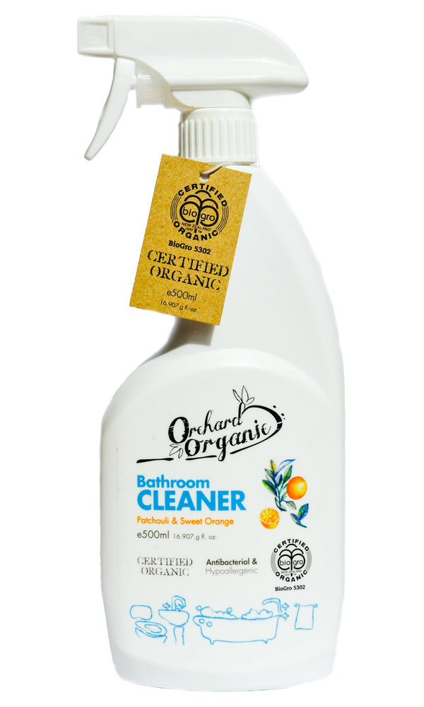Orchard Organic Bathroom Cleaner Patchouli & Sweet Orange (500ml) - Organic Store NZ
