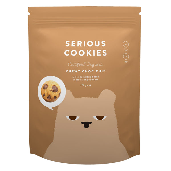 Serious Cookies - Chewy Choc Chip & Double Choc Chip Chewy Choc Chip (170g) - Organic Store NZ