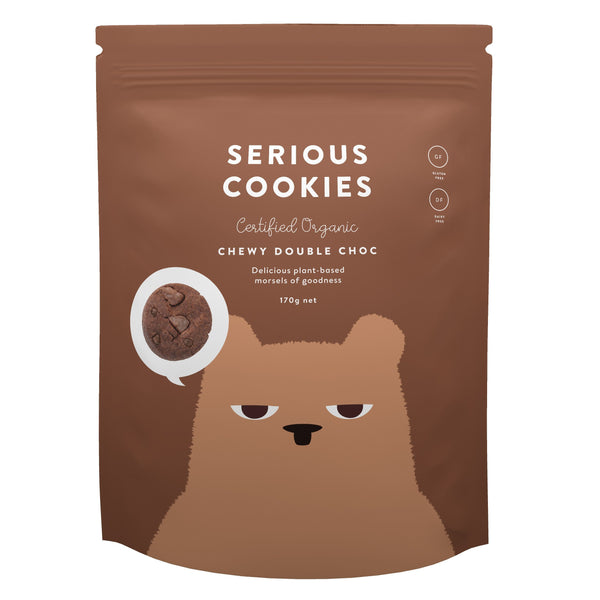 Serious Cookies - Double Choc Chip Chewy Double Choc (170g) - Organic Store NZ