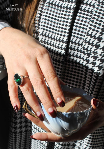 Lady Melbourne wearing After Midnight Ring