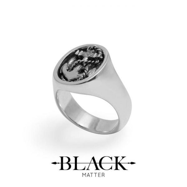 Anchor signet ring made in new zealand  Edit alt text