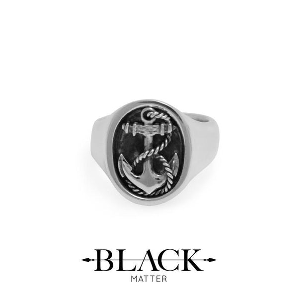 Anchor signet ring made in new zealand