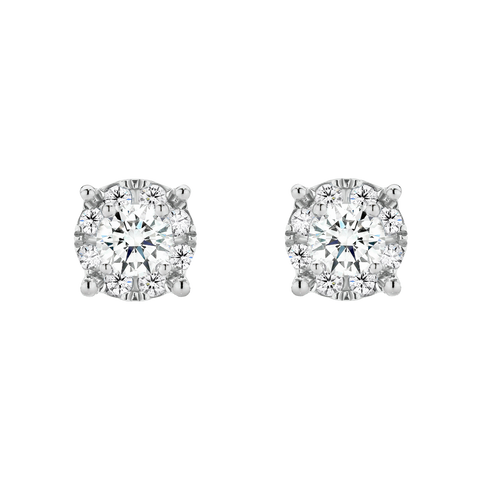Diamond Stud Earrings, set in white gold