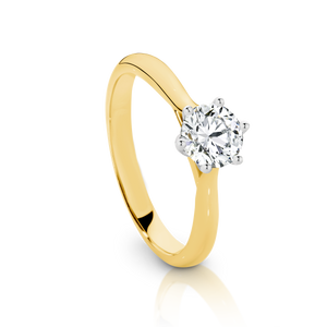 SIGNATURE SOLITAIRE engagement ring with a 0.50ct Diamond